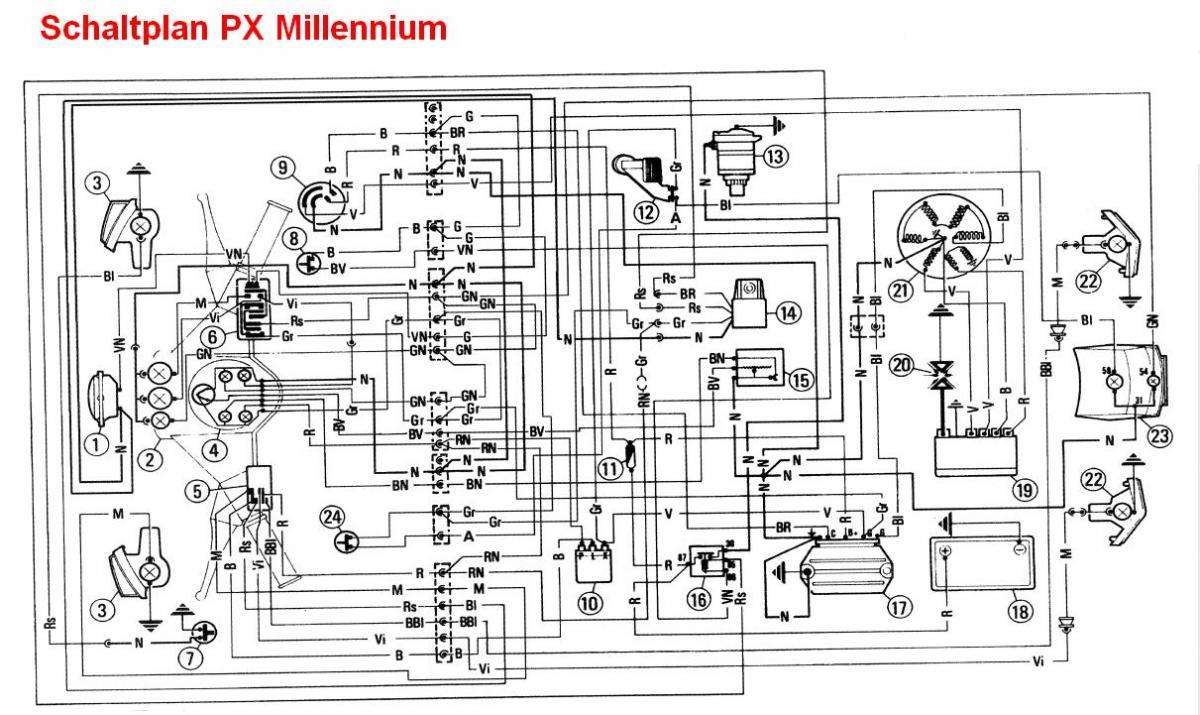 px 150 millennium schaltplan gesucht vespa px t5 cosa. Black Bedroom Furniture Sets. Home Design Ideas