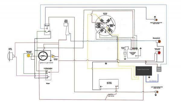 elektrik in eine gs4 mit p200e stator und regler aa bg. Black Bedroom Furniture Sets. Home Design Ideas